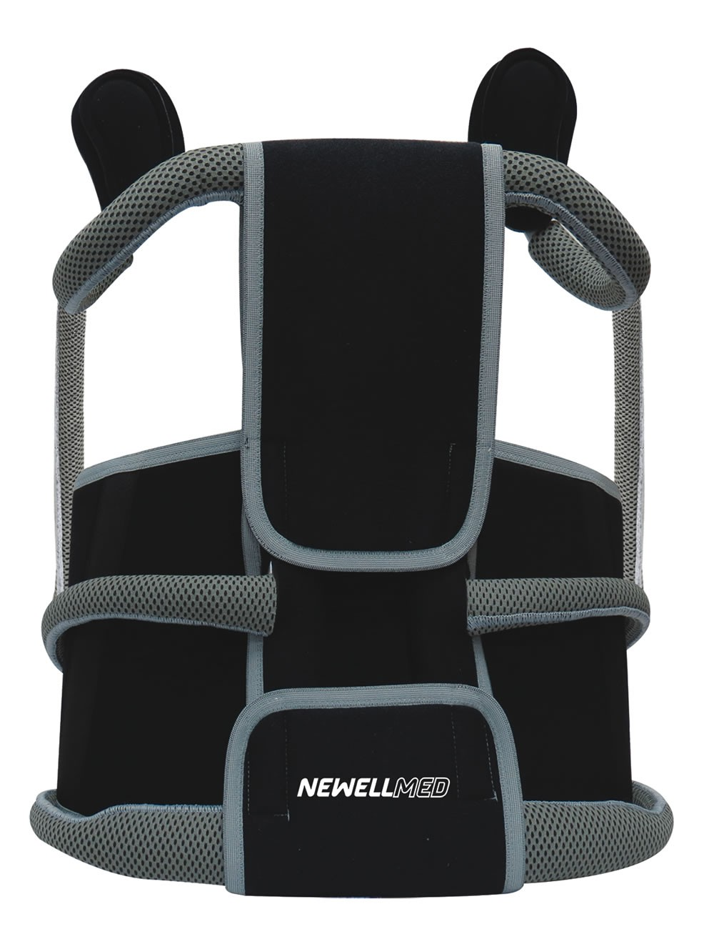 TK391 - Modular cross with underarm release, lateral stabilizing rods and lumbar belt